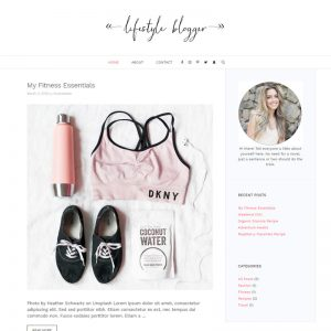 lifestyle blogger website template