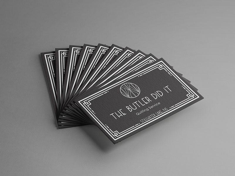 The Butler Did It - Business Cards